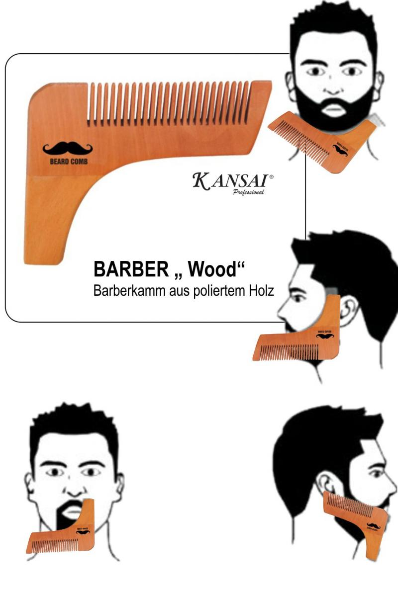 "BARBER Kamm "" Wood"""