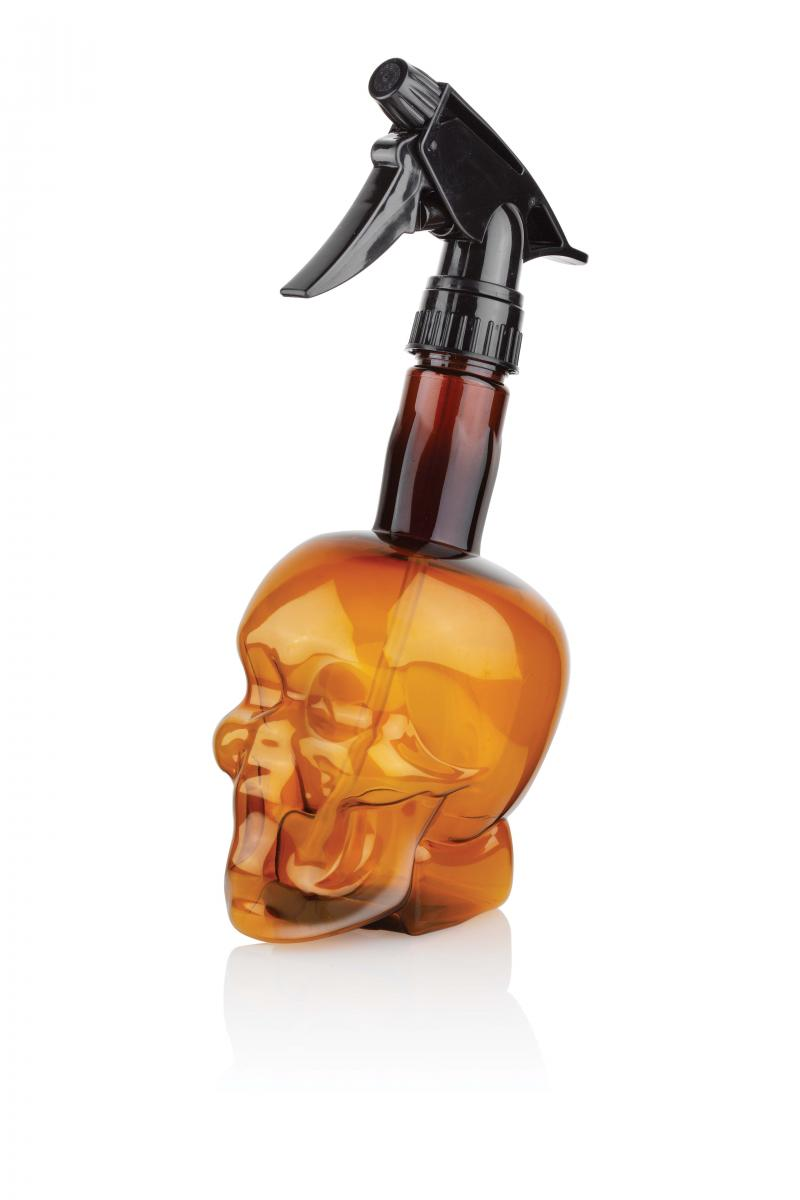 Sprühflasche Barber skull brown